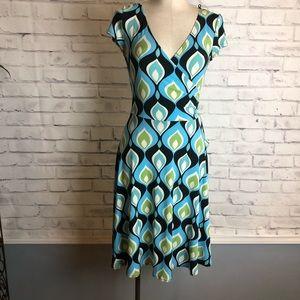 Multicolor midi Dress. London Style